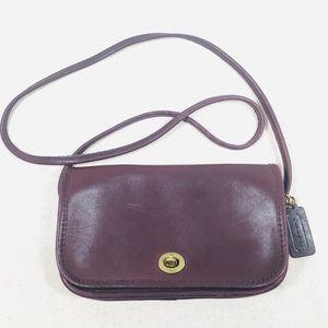Coach Burgundy Leather City Crossbody Bag 3308
